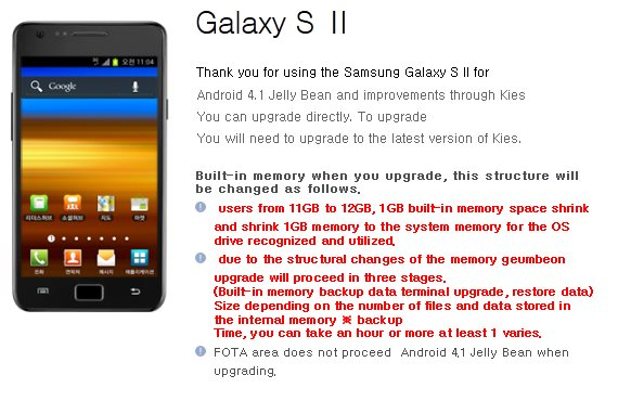 Samsung Galaxy S II - Jelly Bean