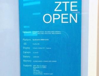 ZTE Open – smartfon z Firefox OS, specyfikacja ujawniona jeszcze przed MWC