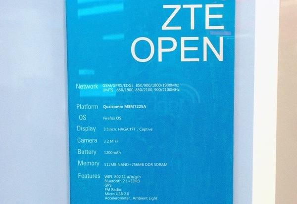 ZTE Open - specyfikacja
