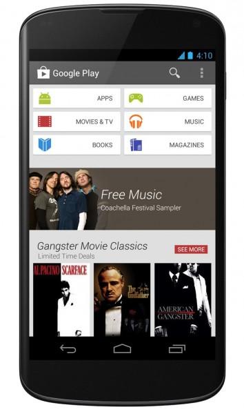 Google Play 4.0 - smartfon
