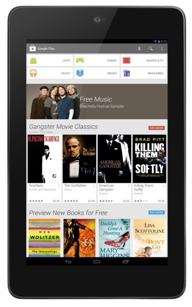 Google Play 4.0 - tablet