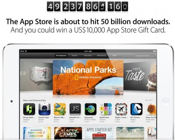 Apple App Store - 50 miliardów, konkurs
