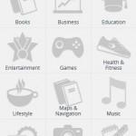 Firefox OS - kategorie sklepu z aplikacjami