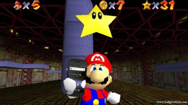 Mario ze smartfonem