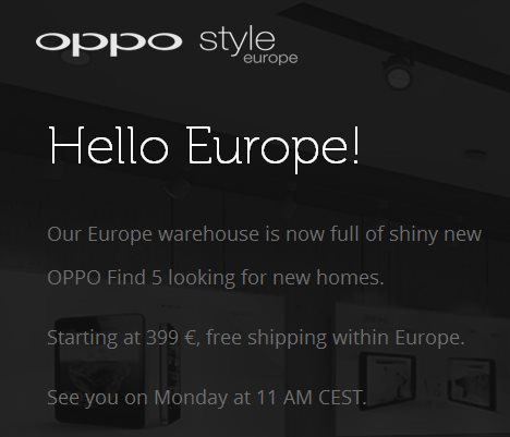 Oppo - sklep w Europie