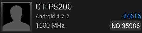 Samsung GT-P5200 w AnTuTu