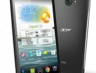 Acer Liquid S1 oficjalnie: 5.7″ ekran i Android 4.2