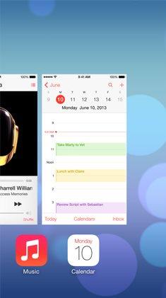 Apple iOS 7 - wielozadaniowość