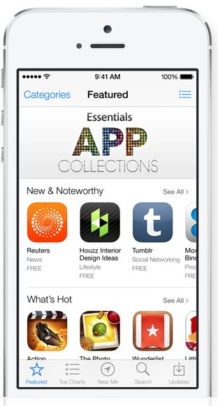Apple iOS 7 - App Store