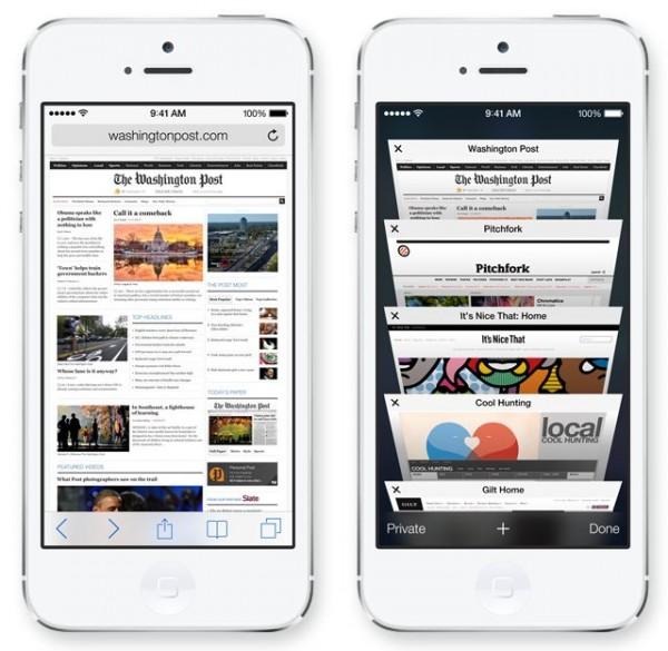 Apple iOS 7 - Safari
