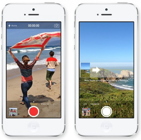 Apple iOS 7 - UI kamery