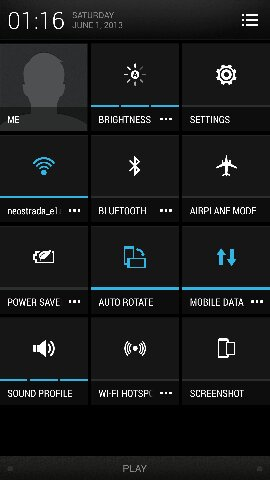 HTC One - Android 4.2.2 - przełączniki