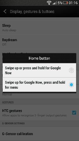 HTC One - Android 4.2.2 - przycisk menu