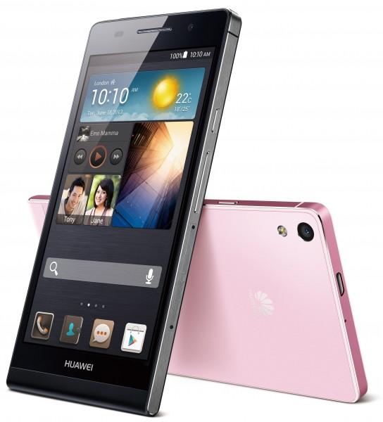 Huawei Ascend P6 - czarny i różowy
