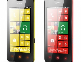 Huawei Ascend W2 w trzech różnych kolorach