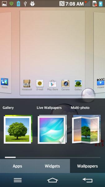 LG Optimus G2 -  UI
