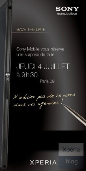 Sony Xperia Z Ultra - zaproszenie