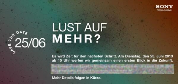 Sony - zaproszenie na 25 czerwca do Berlina
