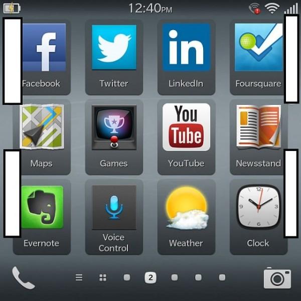 BlackBerry 10.2 - zrzut ekranu