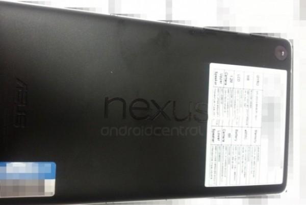 Nexus 7 drugiej generacji - tył