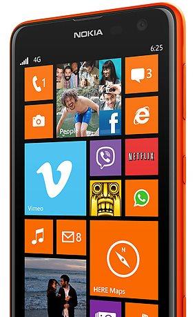 Nokia Lumia 625 - czerwona