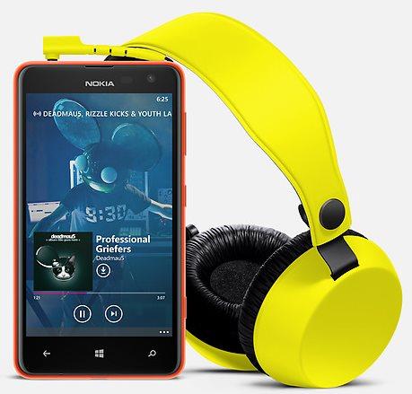 Nokia Lumia 625 - ze słuchawkami