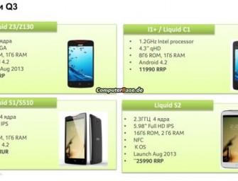 Acer Liquid S2: 5.98″ phablet ze Snapdragonem 800, 2GB RAM i Androidem Key Lime Pie?