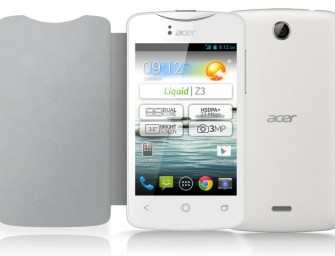 Acer Liquid Z3 oficjalnie: tani Android w poręcznym wydaniu