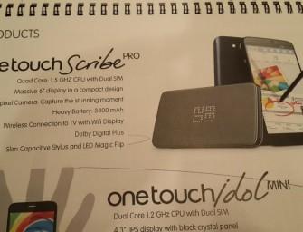 Alcatel One Touch Scribe Pro – 6″ ekran i czterordzeniowy CPU za 960 zł