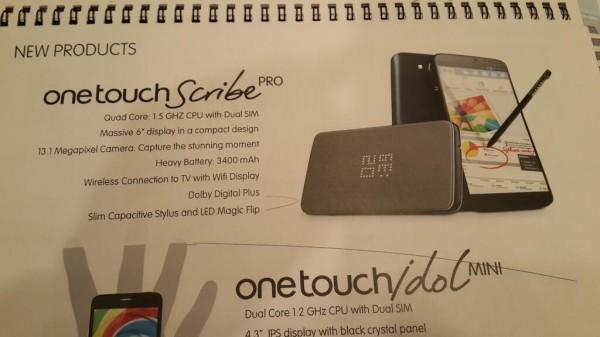 Alcatel One Touch Scribe Pro - przeciek