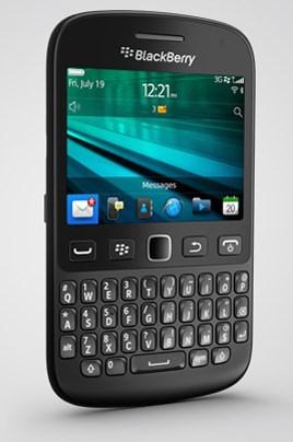 BlackBerry 9720 - czarny, front