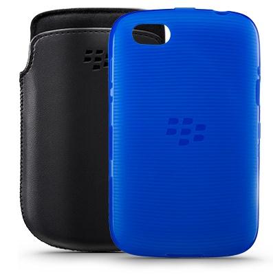 BlackBerry 9720 - pokrowce, czarny i niebieski
