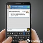 BlackBerry Z30 - wirtualna klawiatura
