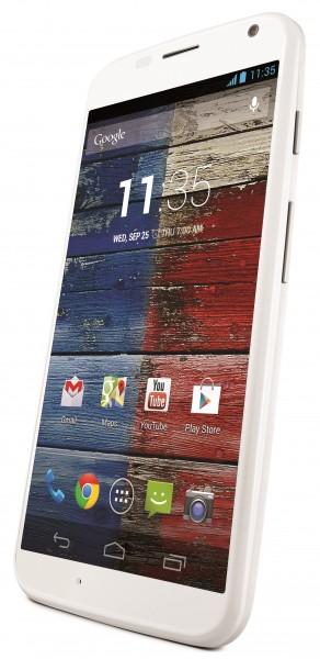 Motorola Moto X - biała, rzut