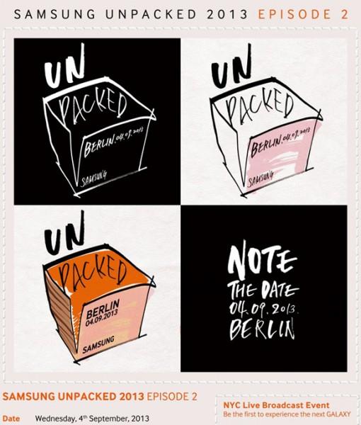 Samsung Unpacked 2013 Episode 2 - zaproszenie na 4 września