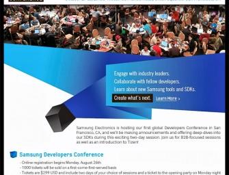 Samsung oficjalnie wystartuje z systemem Tizen na konferencji programistycznej w październiku