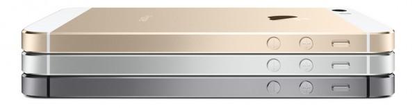 Apple iPhone 5S - bok, kilka obok siebie