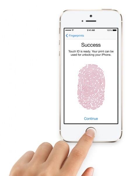 Apple iPhone 5S - dotykowy przycisk