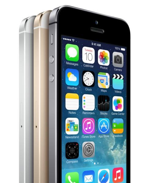 Apple iPhone 5S - front, kilka obok siebie
