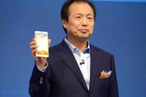 JK Shin z Samsungiem Galaxy Note 3