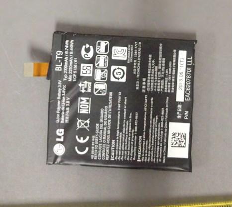 LG Nexus 5 - FCC, bateria
