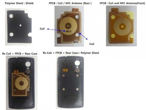 LG Nexus 5 - pokrywa baterii, FCC