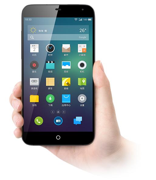 Meizu MX3 w dłoni