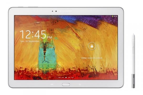 Samsung Galaxy Note 10.1 - biały z rysikiem, front