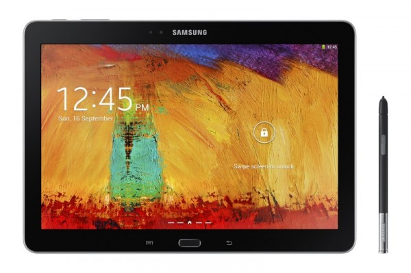 Samsung Galaxy Note 10.1 - czarny z rysikiem, front