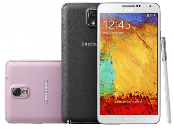 Samsung Galaxy Note 3 - kolory, tył i przód