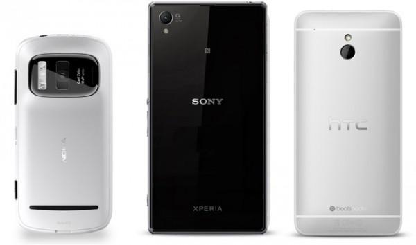 Sony Xperia Z1, Nokia 808 PV i HTC One mini