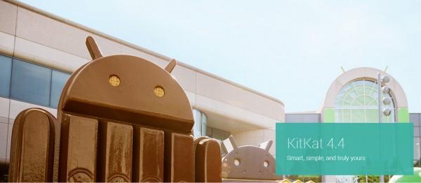 Android 4.4 KitKat - logo przed firma
