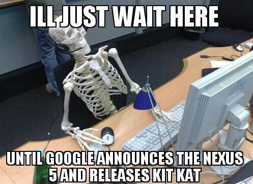 Czekajac na Nexusa 5 i KitKat