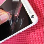 HTC One Max - front, folia na ekranie